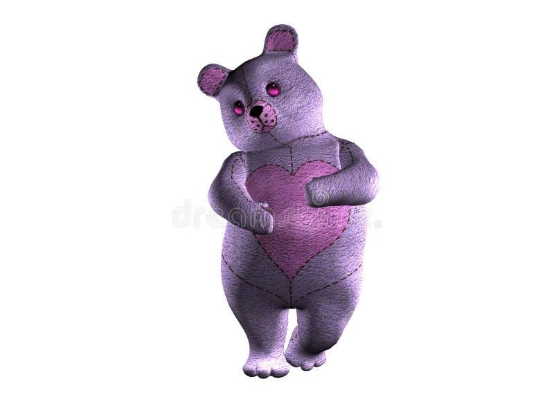Purple Teddy royalty free stock photos