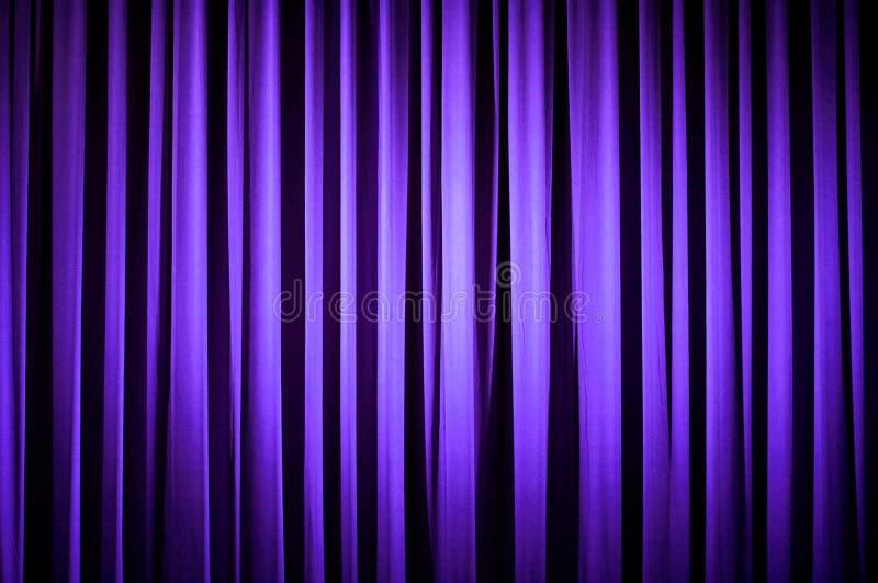Purple Theater Curtain Stock Photo