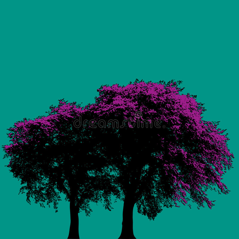 Download Purple trees stock vector. Illustration of natural, abstract - 5113674