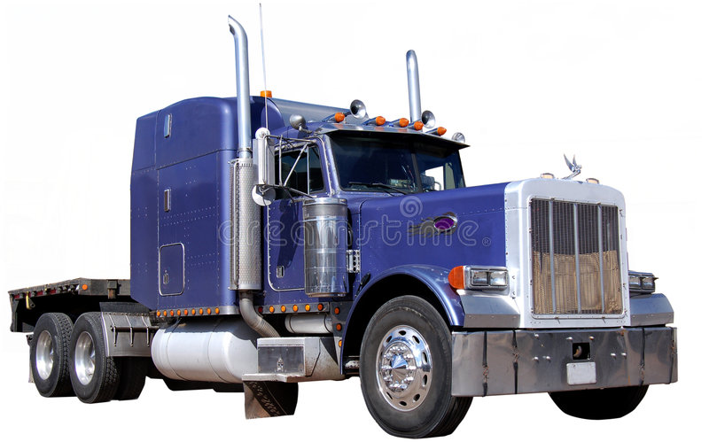 Purple Truck Isolated stock photo
