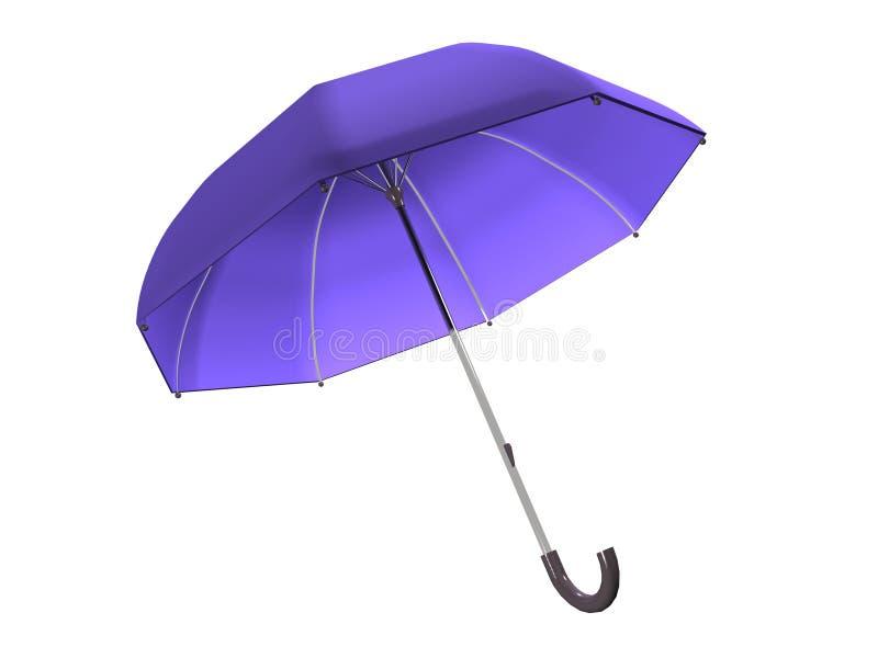 Purple Umbrella_Raster Royalty Free Stock Photo