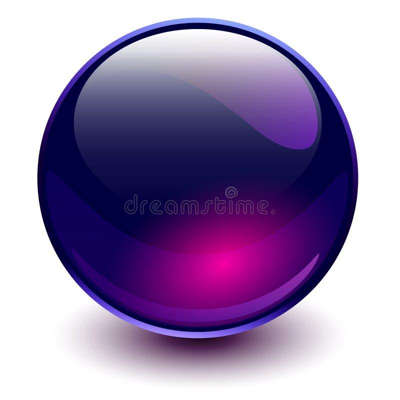 Purple van het glasgebied stock illustratie