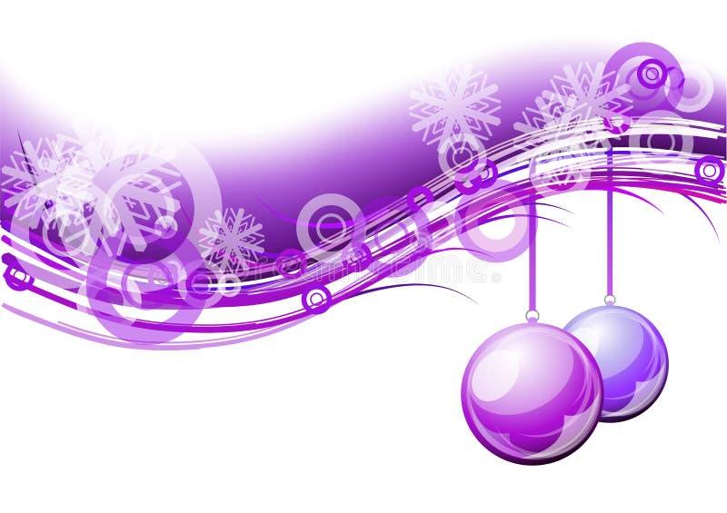 Purple van Kerstmis vector illustratie