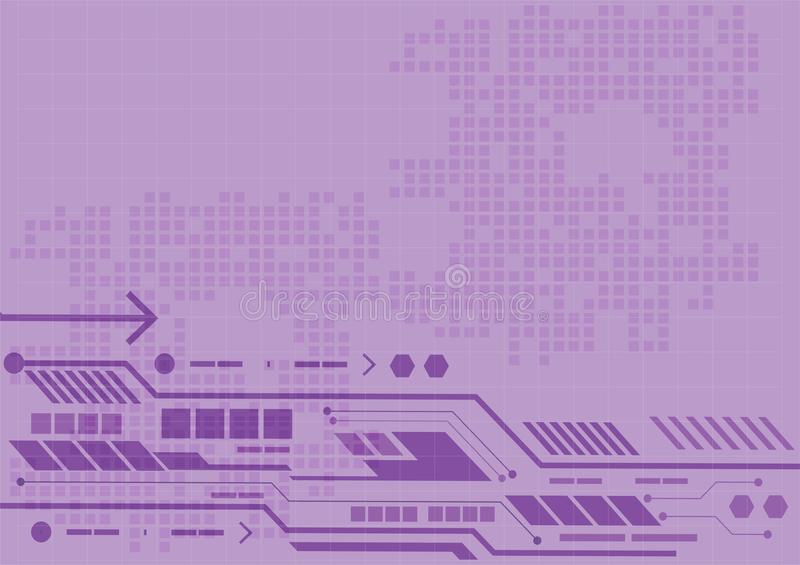 Purple vector abstract background digital, technology for business concept, vector illustration royalty free illustration