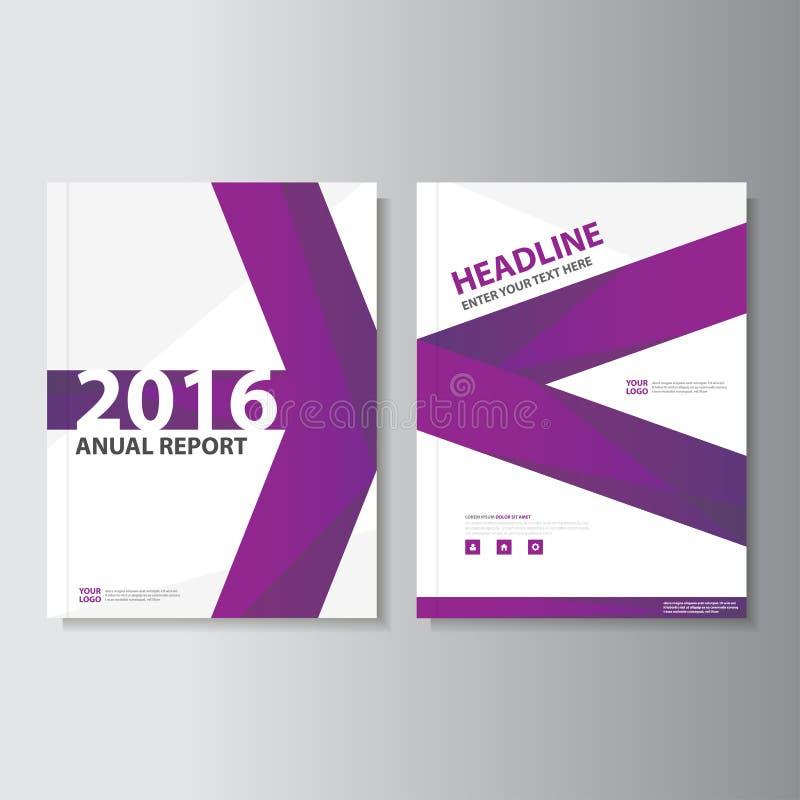 Purple Vector annual report Leaflet Brochure Flyer template design, book cover layout design, Abstract purple template. Purple Vector annual report Leaflet stock illustration
