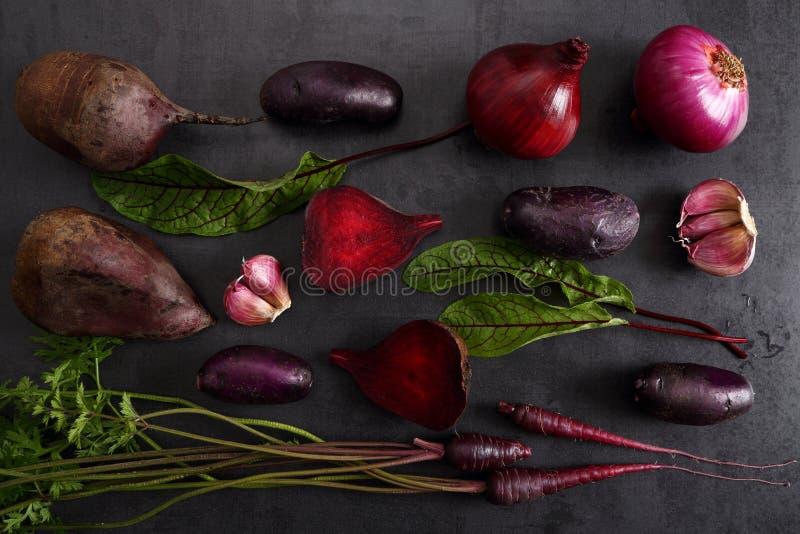 Purple vegetables stock images
