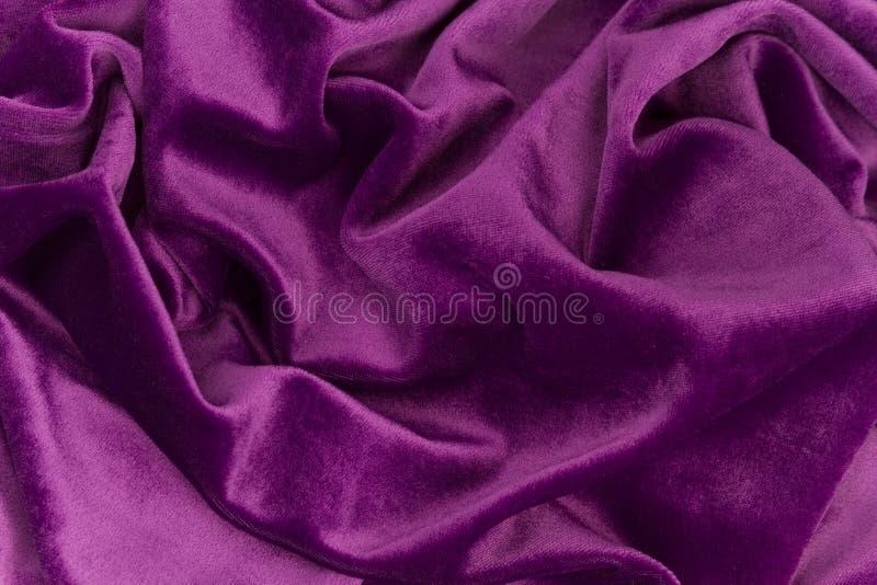 Purple Velvet Fabric Royalty Free Stock Images