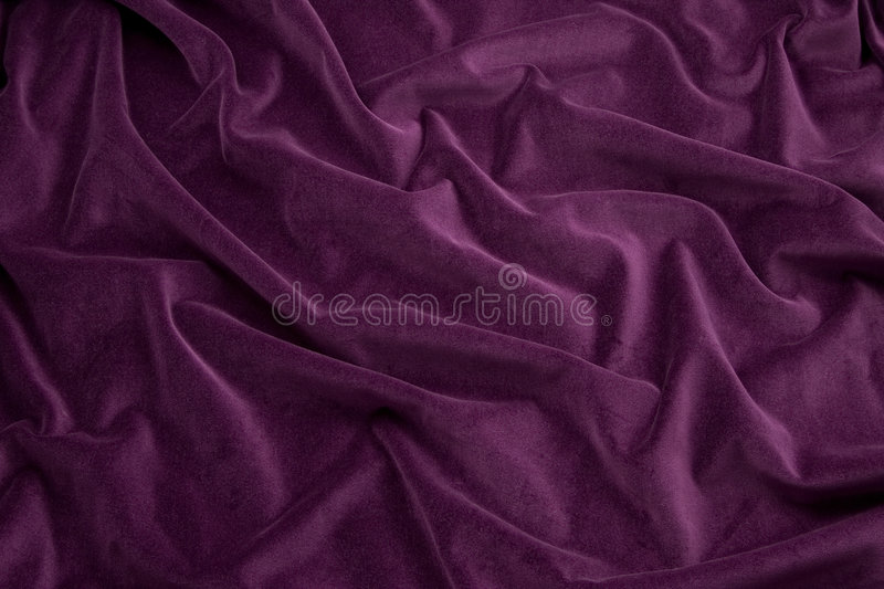 Purple Velvet Fabric royalty free stock image