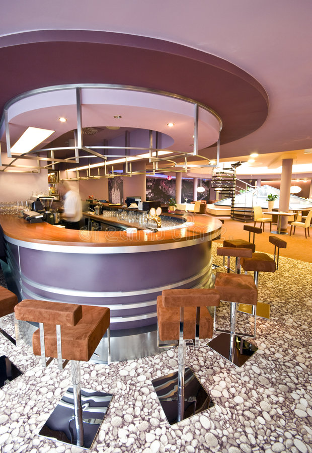 Download Purple and violet bar stock image. Image of hotel, chairs - 7110363