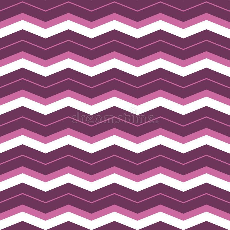 Purple violet geometric seamless zigzag pattern. chevron pattern background, wrapping paper, fabric pattern, textile design. Purple violet geometric seamless stock illustration