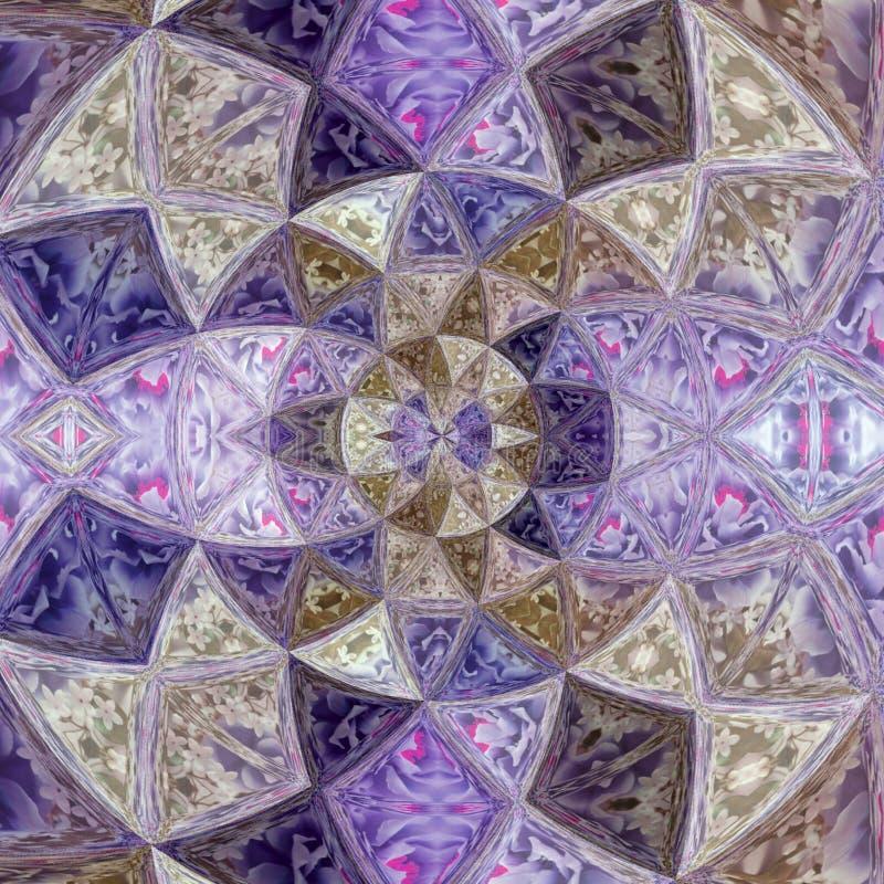 Purple violet glass flower quartz effect stained glass. Purple violet glass flower effect stained glass stock photography