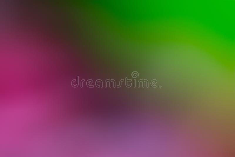 Purple, violet, green and brown smooth and blurred wallpaper / background stock images