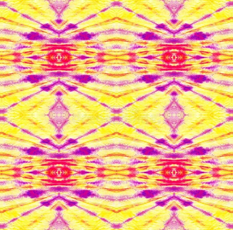 Tie Dye Pattern. Purple and Violet Watercolor hand drawn batik. Summer ink japan illustration. Handmade watercolour shirt tie dye pattern. Aztec kaleidoscope royalty free illustration