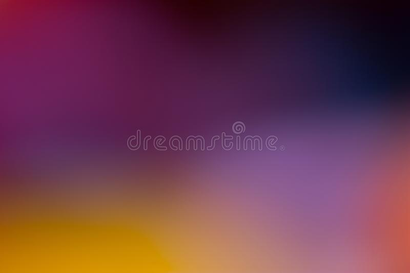 Purple,violet, yellow and black smooth and blurred wallpaper / background royalty free stock photo