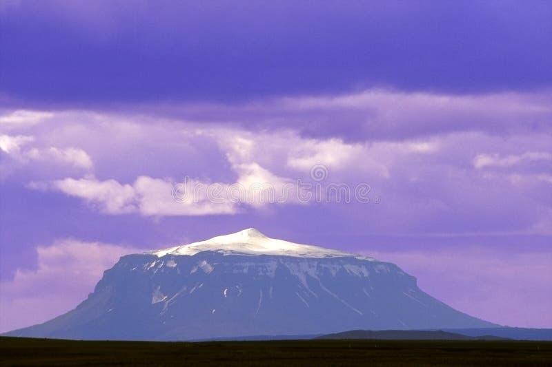 Purple Volcano Royalty Free Stock Photos