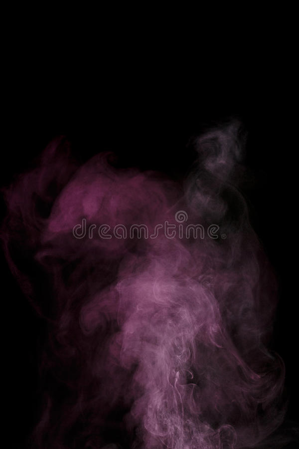 Purple water vapor. Abstract purple water vapor on a black background. Texture. Design elements. Abstract art. Steam the humidifier. Macro shot royalty free stock photos