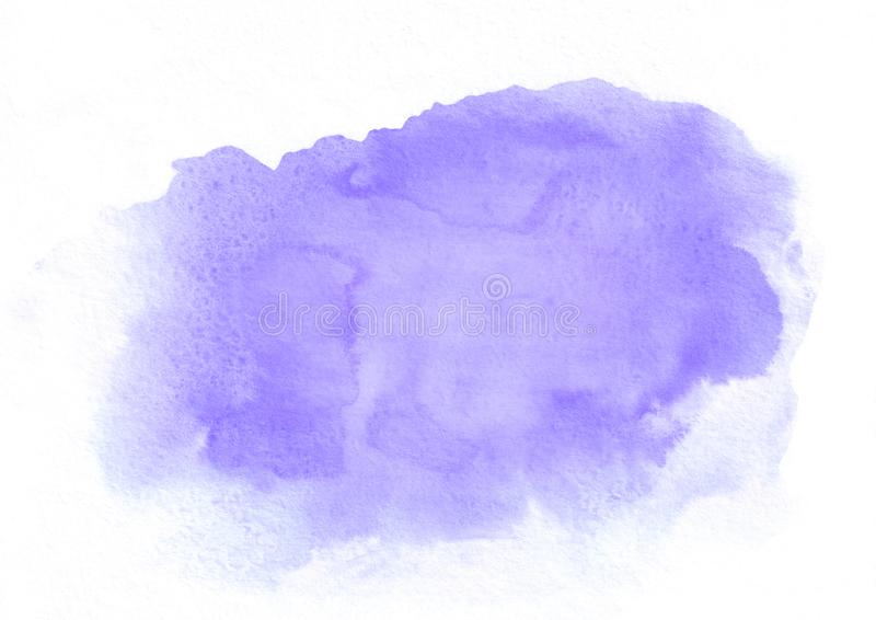 Purple watercolor gradient running stain. It`s a good background for valentines, love letters, romantic messages, birthday congra stock photos