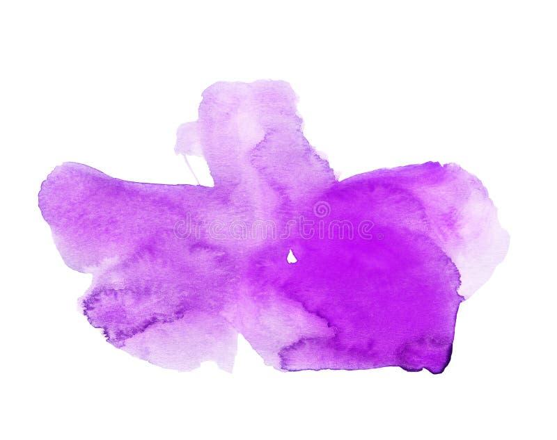 Big Blob of Purple Watercolor. Handmade illustration of purple watercolor stock illustration