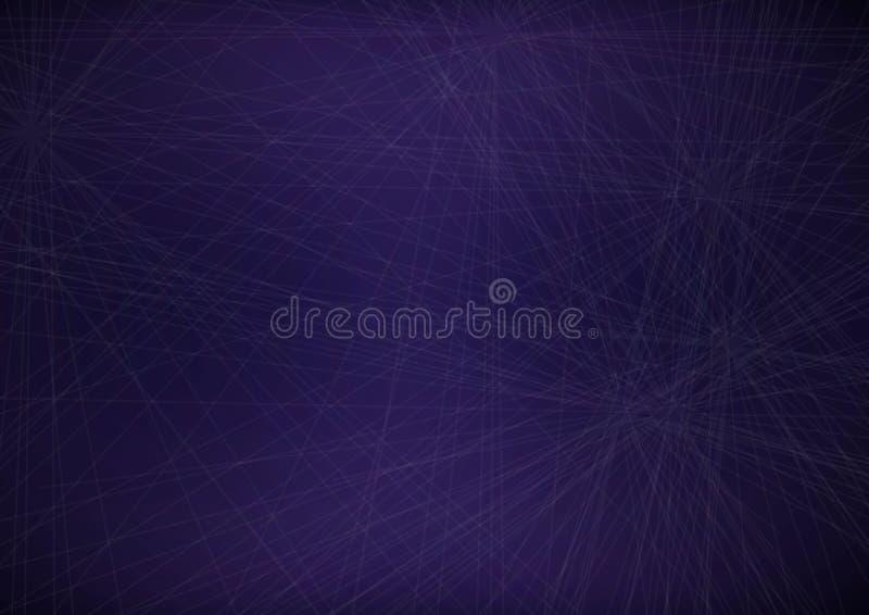 Purple Web. Dark purple web background, horizontal alignment royalty free illustration