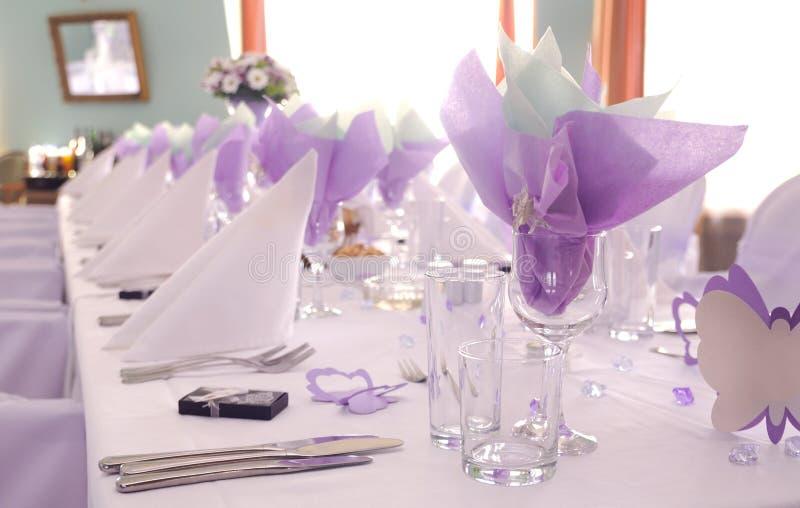 Purple wedding stock photo
