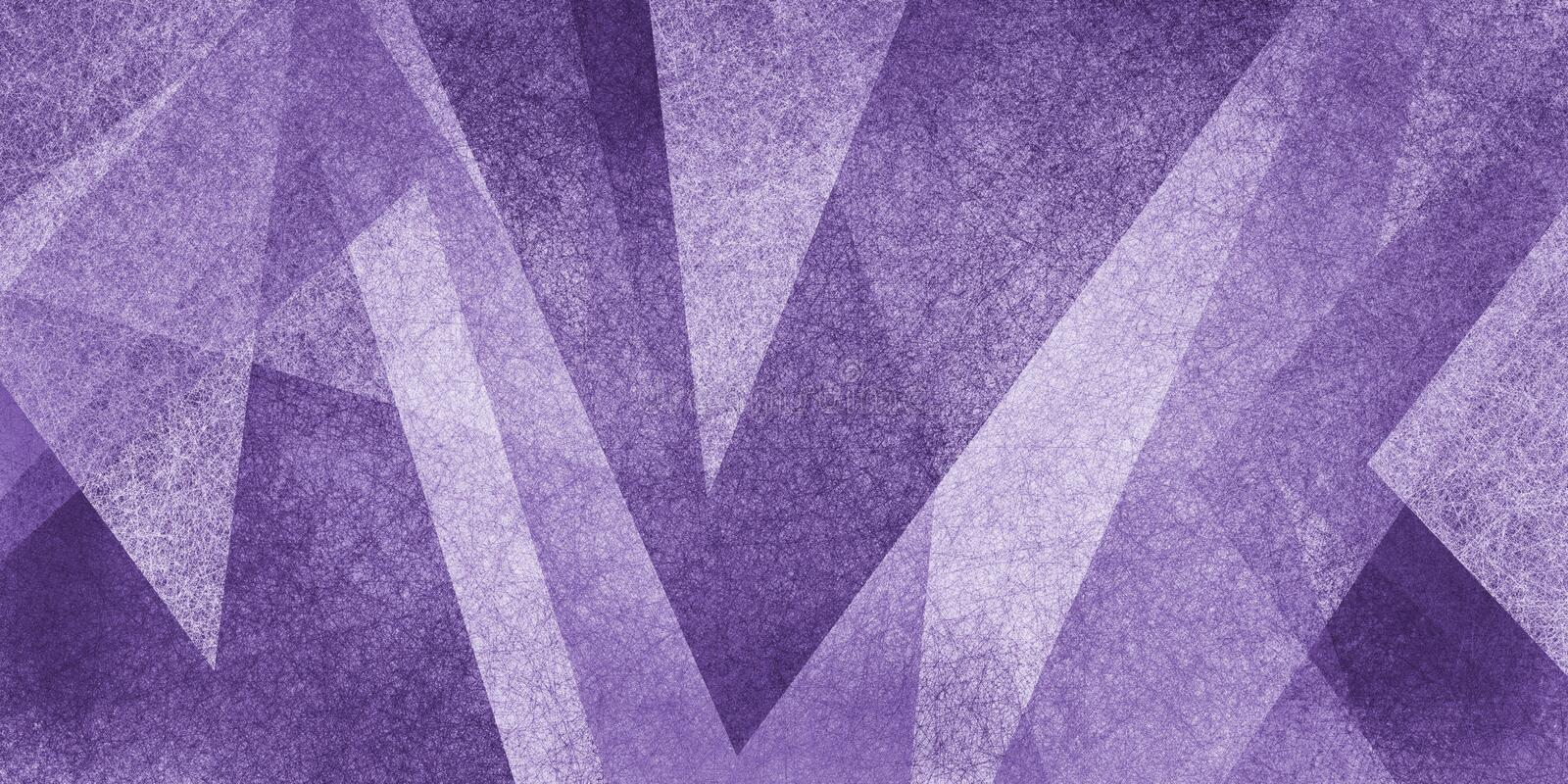Purple and whiteabstract background with texture, geometric gray and white triangles and square shapes in layered abstract pattern. Purple and white abstract royalty free stock photos