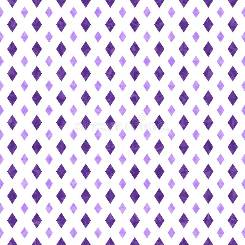 Purple and white diamond abstract geometric seamless textured pattern background. Purple and white diamond abstract geometric seamless and repeat textured stock illustration