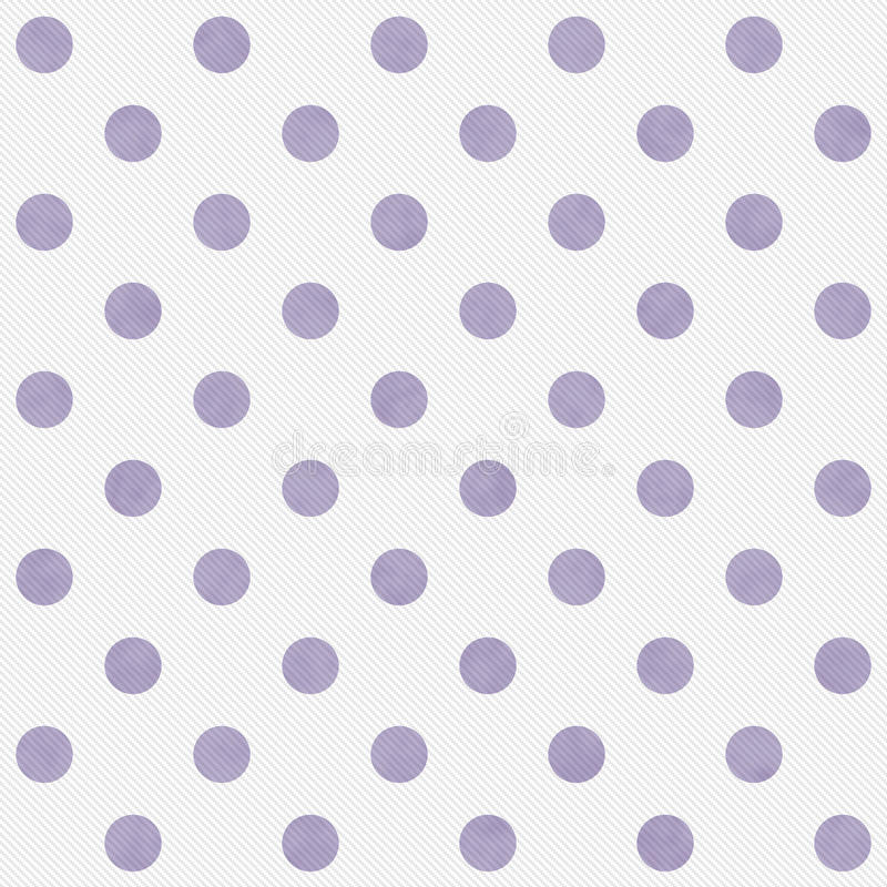 Purple and White Large Polka Dots Pattern Repeat Background. That is seamless and repeats royalty free stock photos