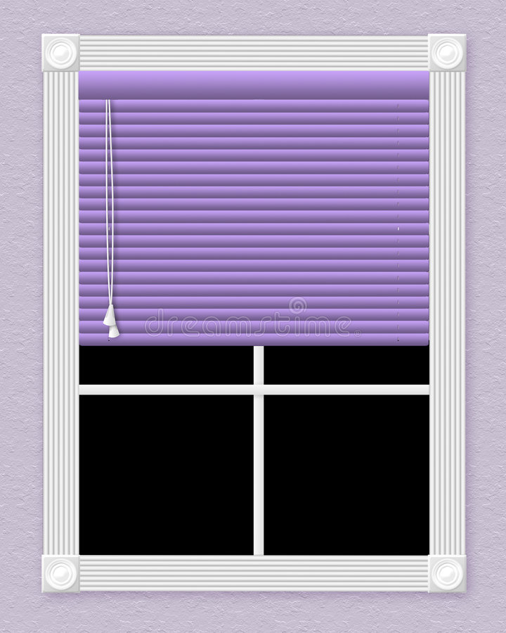 Purple window royalty free stock photos