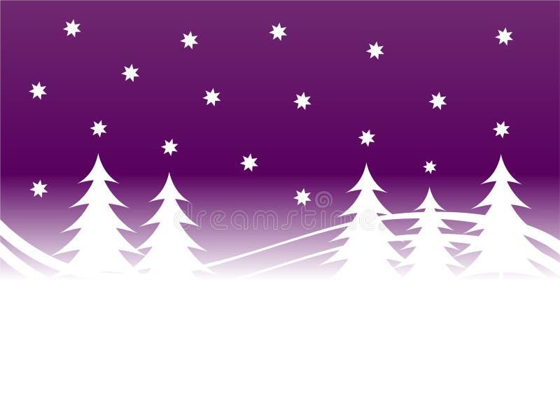 Purple Winter Background vector illustration