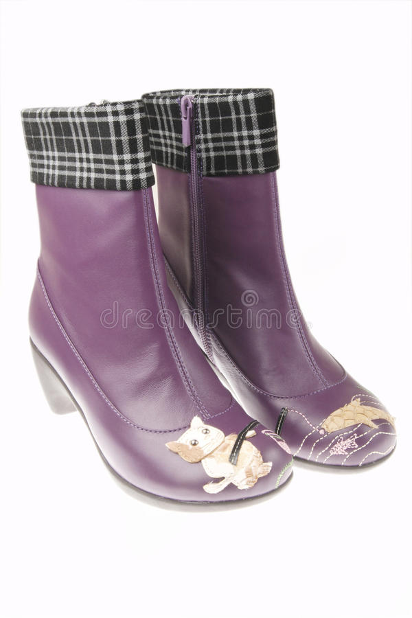 Purple woman boots
