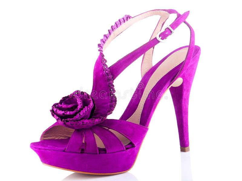 Download Purple Women's shoes stock image. Image of beauty, tall - 25935613