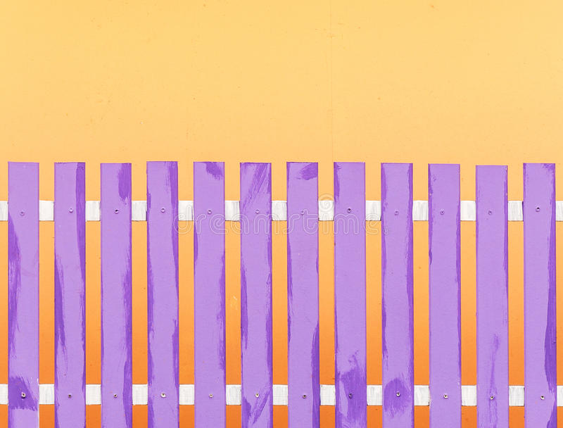 Purple wooden fence stock photography