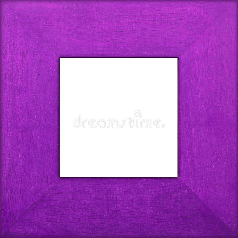 Purple Wooden Square Frame stock photography