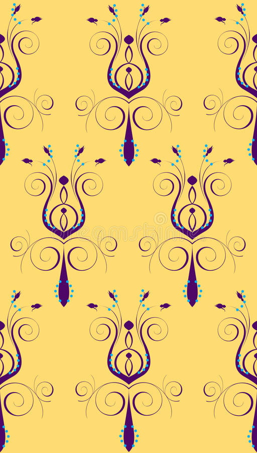 Free Purple Yellow Abstract Flower Royalty Free Stock Photo - 17391395