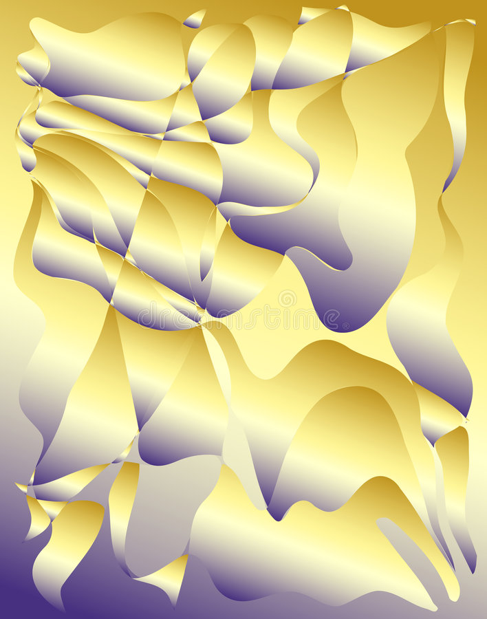 Download Purple-Yellow Fractals stock illustration. Image of textures - 1335022