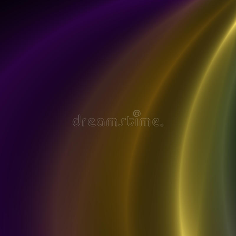 Purple and Yellow streaks of light. Purple and yellow flowing light streaks background royalty free illustration