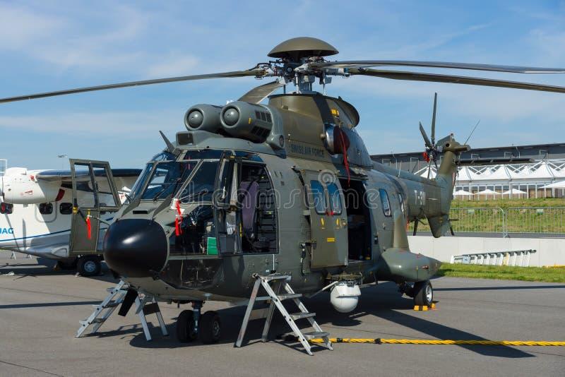 Purpose Eurocopter AS332 śmigłowcowa Super puma obrazy royalty free