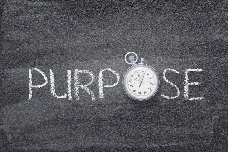 Purpose word watch stock photography