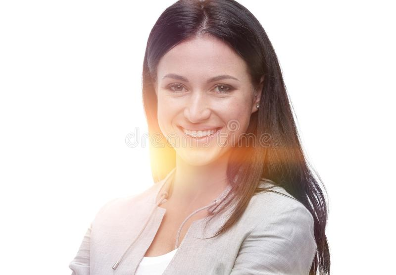 Purposeful modern young woman. portrait. Photo with copy space stock photos
