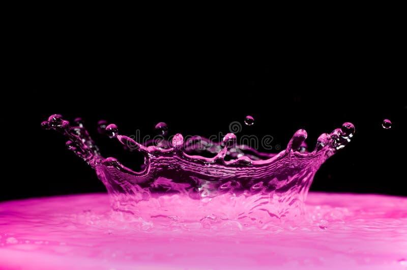 purpur färgstänk arkivfoton