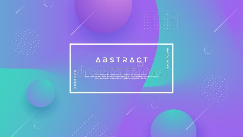 Purpur, grüner abstrakter Hintergrund mit einer dynamischen flüssigen Form Minimaler flüssiger Hintergrund für Plakate, Plakate,  stock abbildung