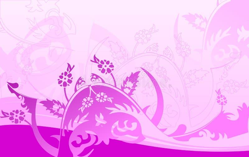 Purpur kurvt Hintergrund. vektor abbildung