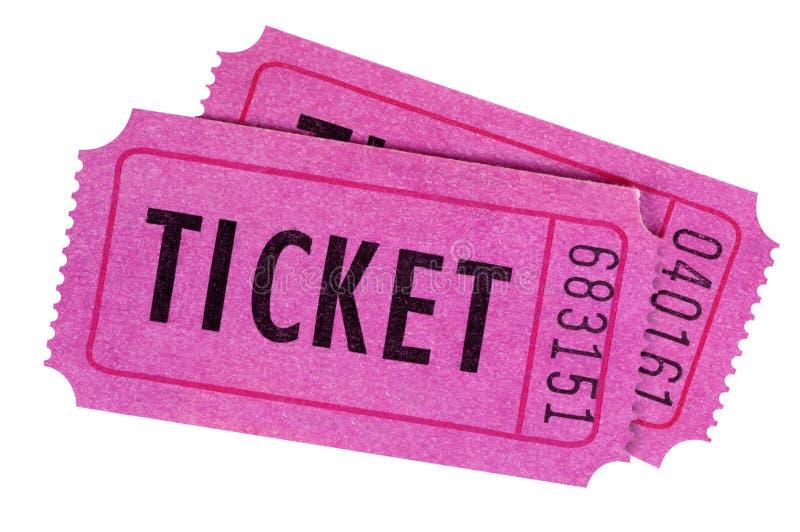 Purpur lub menchii bilety zdjęcie royalty free