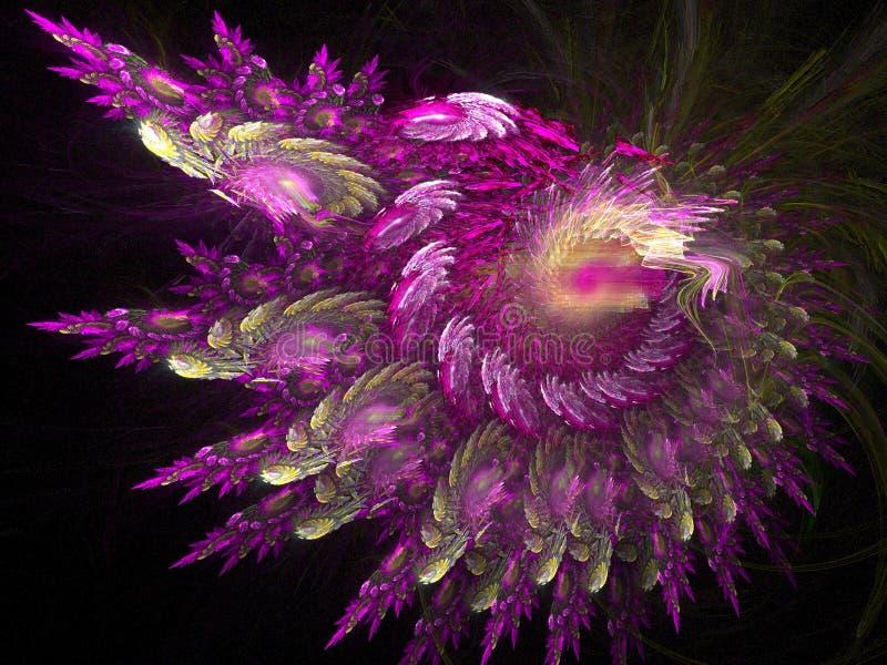 purpur radiant vektor illustrationer