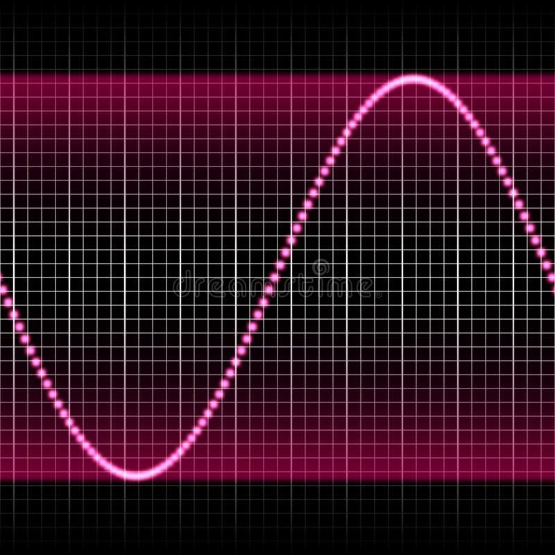 purpur soundwave stock illustrationer