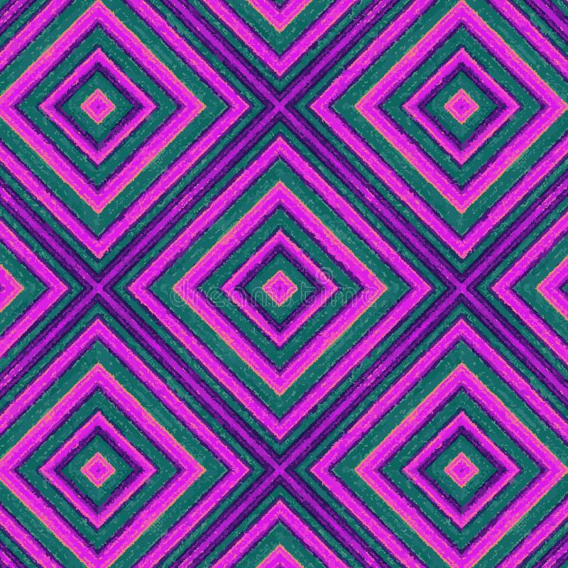 Purpur und Veilchen malten Rauten in einem nahtlosen Muster vektor abbildung