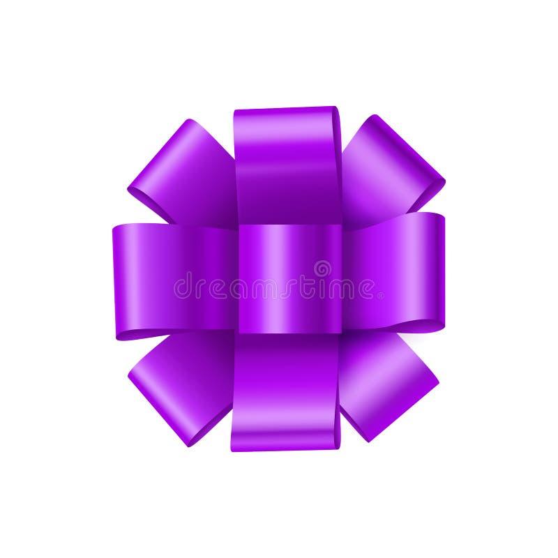 Purpura łęk od atłasowej taśmy royalty ilustracja