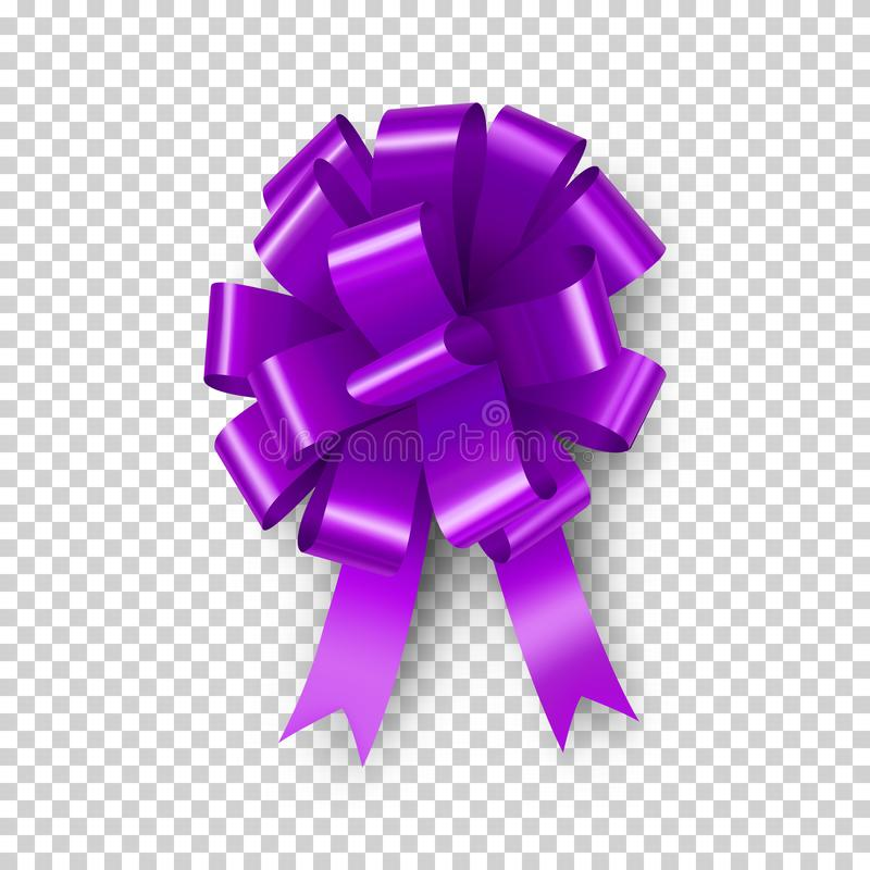 Purpura ??k z tasiemkowym elementem ilustracji