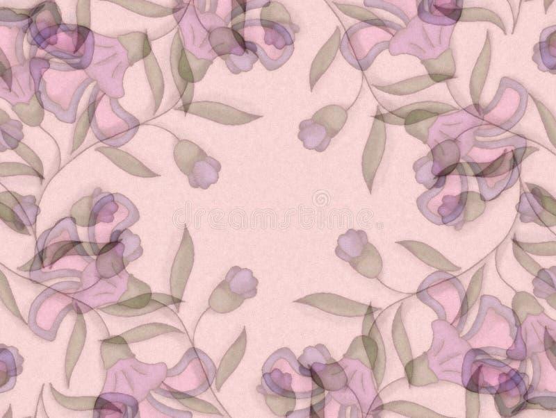 purpura blom- ljusa modeller royaltyfri illustrationer