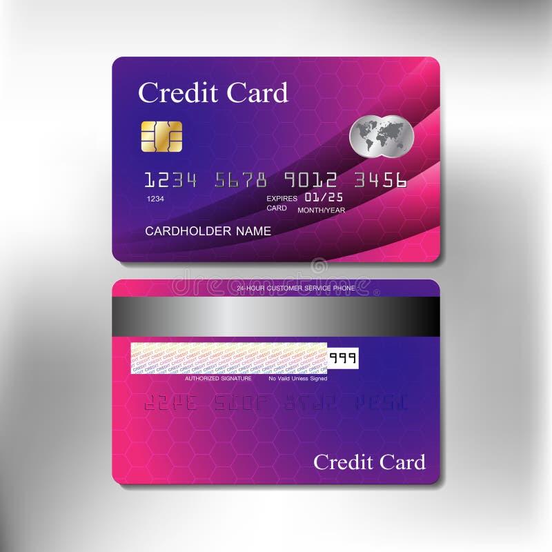 Purpura cienia kredytowej karty wektorowy projekt zdjęcia royalty free